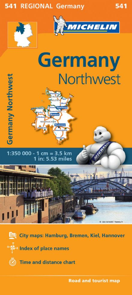 541 Germany North West - Michelin Regional Map